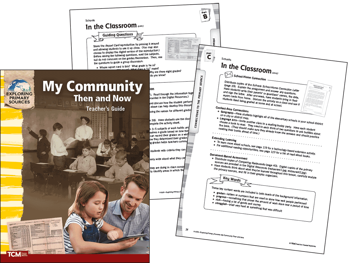 Exploring Primary Sources: My Community Then and Now, 2nd Edition Kit