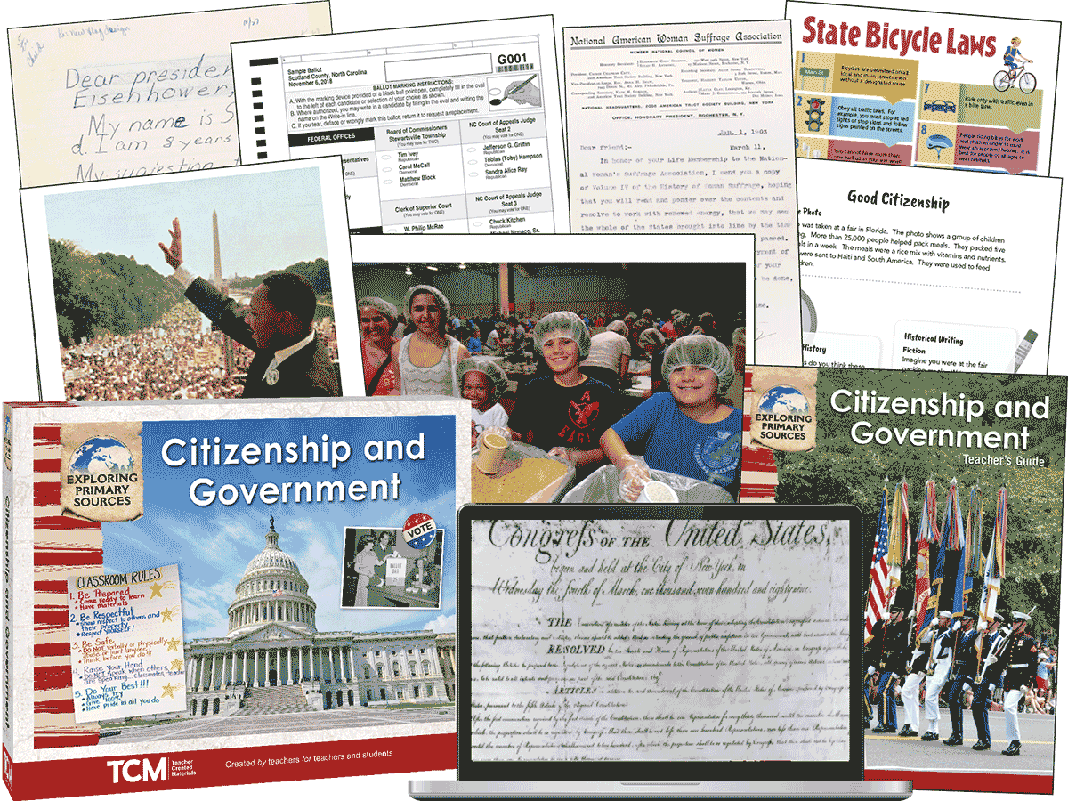 Exploring Primary Sources: Citizenship and Government, 2nd Edition Kit