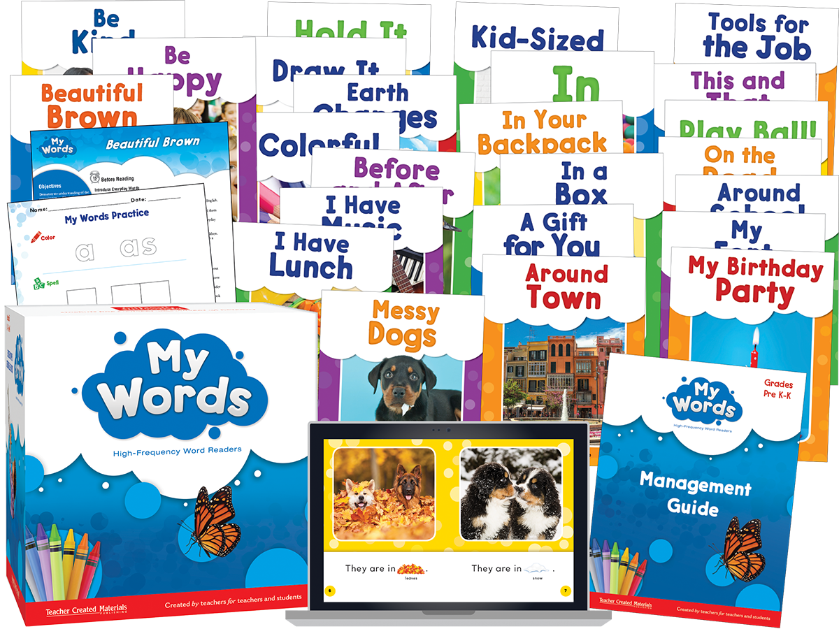 My Words Readers: Grades Pre K-K Kit