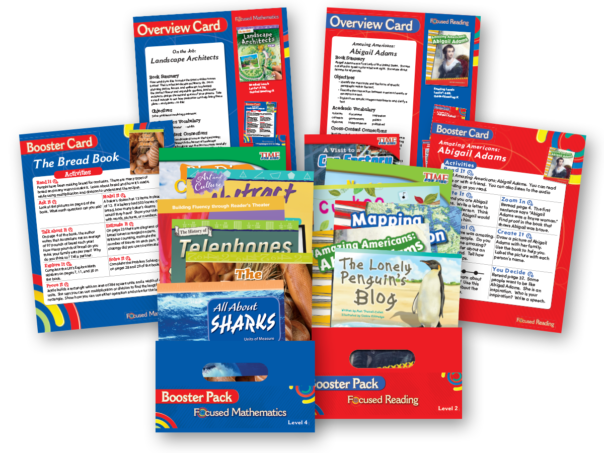 Focused Reading and Focused Mathematics Booster Packs